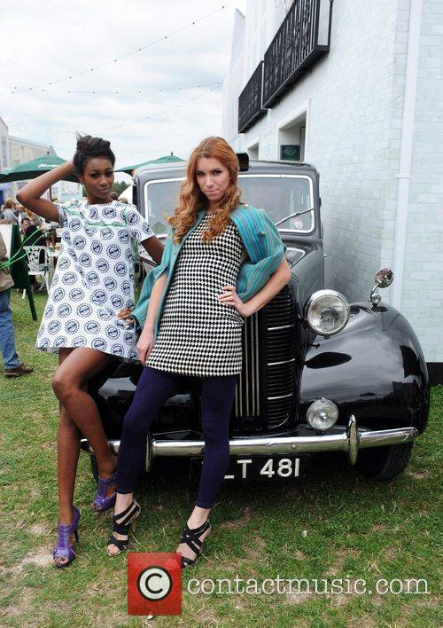 Festival goers  during the 'Vintage at Goodwood'...