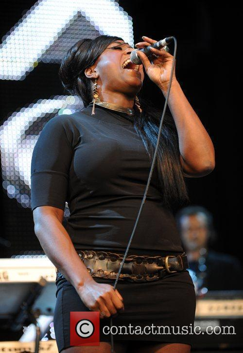 Mica Paris performs during the 'Vintage at Goodwood'...
