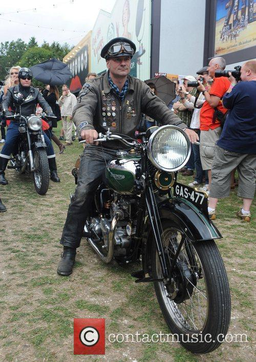 Rockers on motorbikes  during the 'Vintage at...