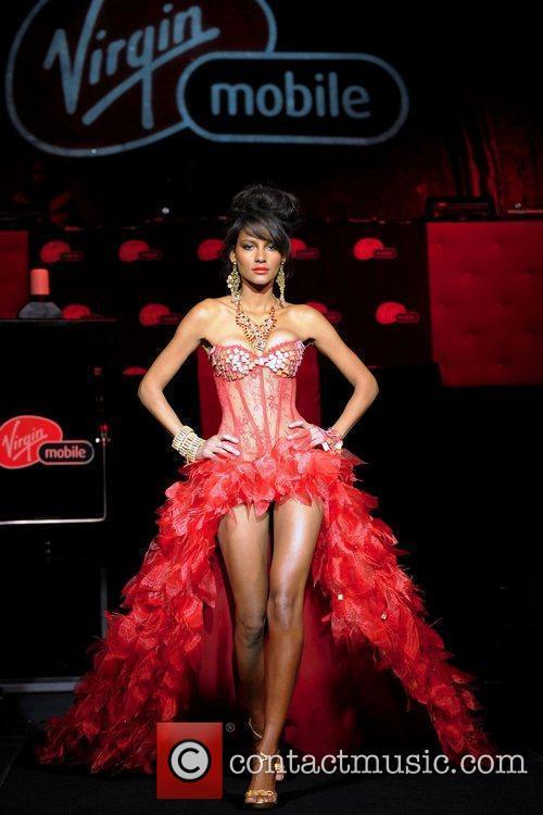Emanuela de Paula, Victoria Secret model, wearing a...