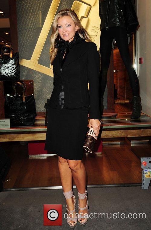 Caprice Bourret Vogue & Hogan fashion night out...