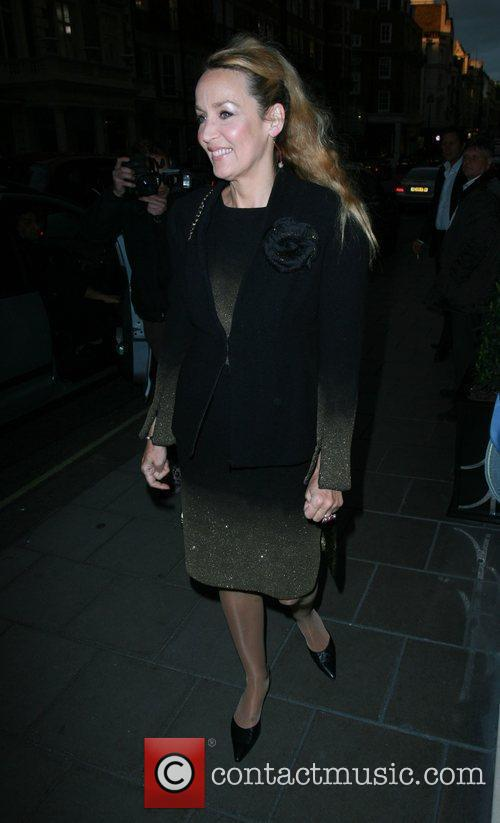 Arriving at Claridge's Vogue Party