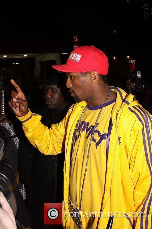 Los Angeles Lakers player Ron Artest departs Voyeur...