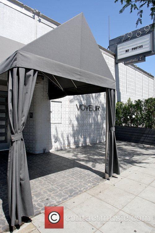 Outside view of Voyeur Nightclub in West Hollywood...