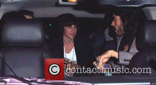 Leaving the Grammy Awards afterparty at the W...
