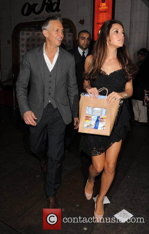 Gary Lineker and his wife Danielle Lineker The...