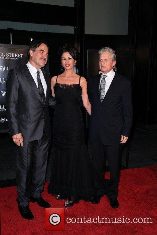 Oliver Stone, Catherine Zeta Jones, Michael Douglas and Wall Street 3