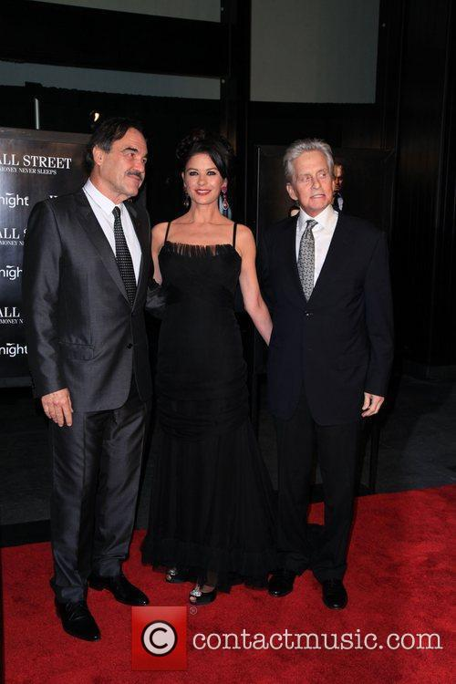 Oliver Stone, Catherine Zeta Jones, Michael Douglas and Wall Street 1