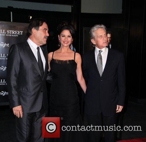 Oliver Stone, Catherine Zeta Jones, Michael Douglas and Wall Street 5