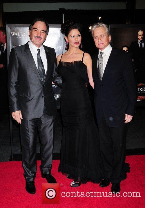 Oliver Stone, Catherine Zeta Jones, Michael Douglas and Wall Street 9