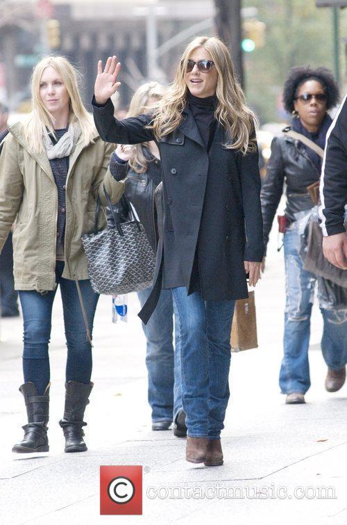 Jennifer Aniston and Paul Rudd are seen walking...