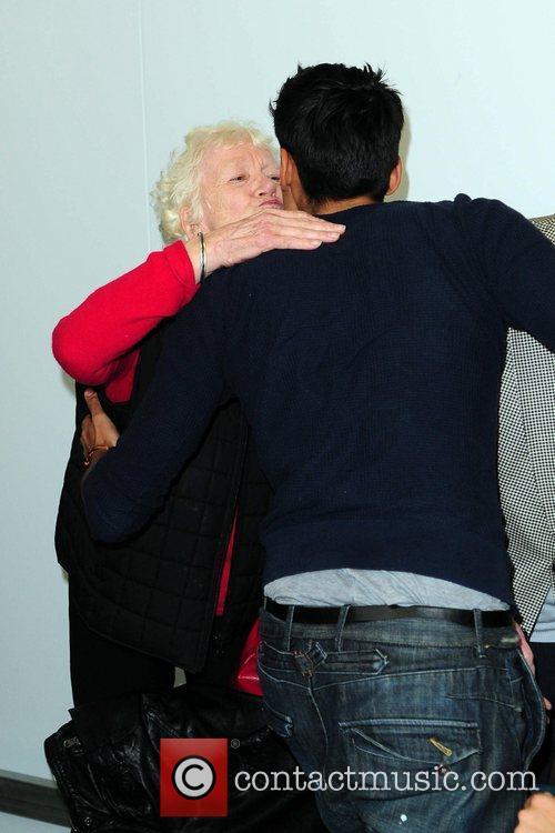 Siva Kaneswaran greets Max George's Nana Teresa The...