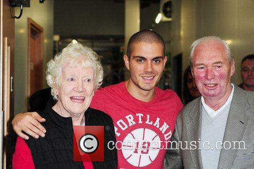 Max George gets a surprise visit from his...