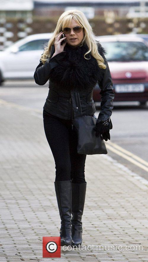 Letitia Dean arriving at the Chichester Festival Theatre...