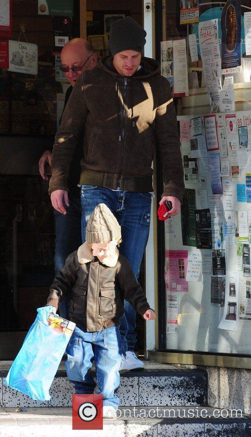 Wayne Bridge with son Jayden The Manchester City...