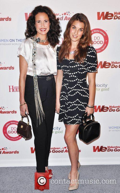 Andie MacDowell and Rainey Qualley WE tv and...