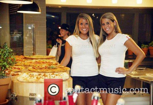 Promo girls at the opening of a new...