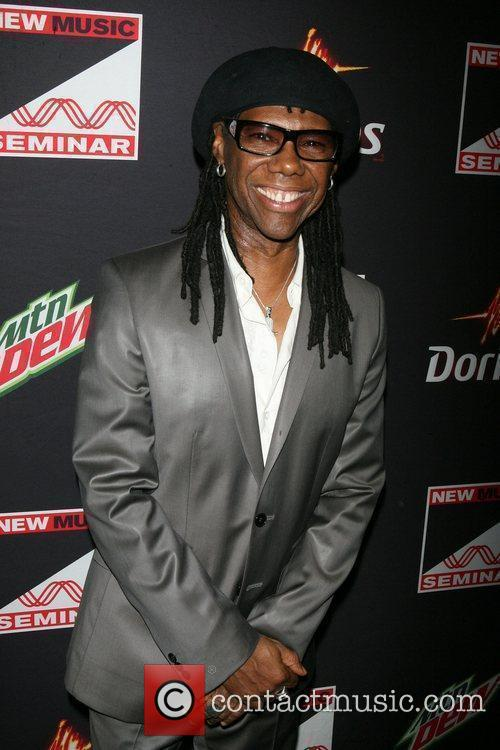 Nile Rogers ,  at the opening night...