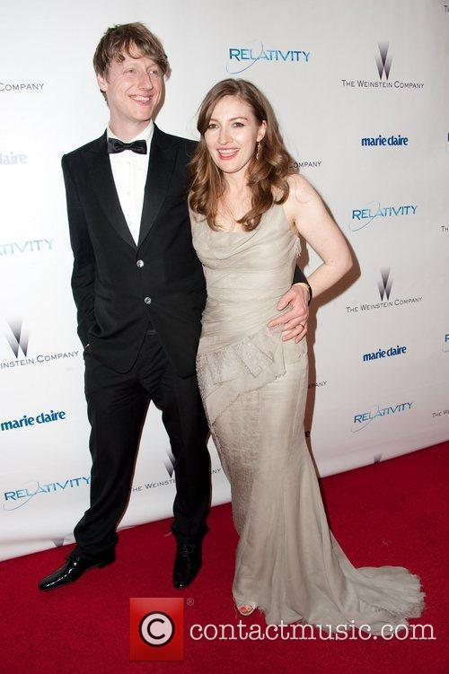 Kelly Macdonald with friendly, Husband Dougie Payne