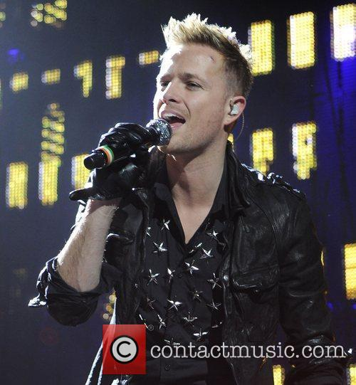 Nicky Byrne Westlife performing at the O2 Arena...