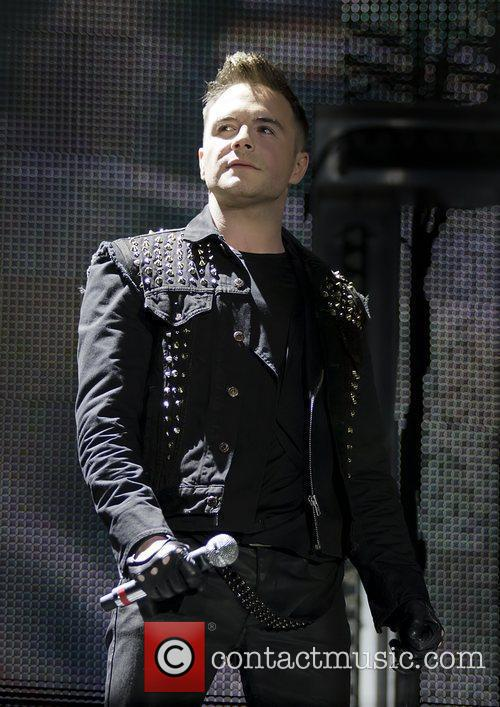 Shane Filan Westlife performing at Manchester Evening News...