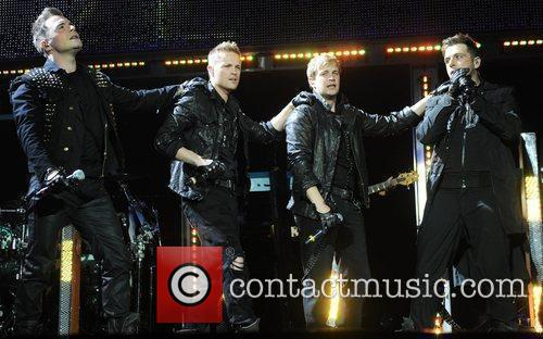 Westlife performing at the O2 Arena London, England