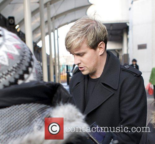 Kian Egan Westlife leaving the GMTV studios London,...