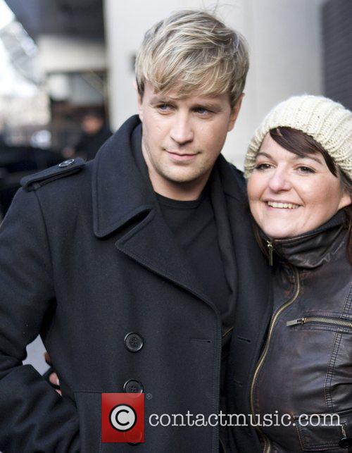 Westlife leaving the GMTV studios