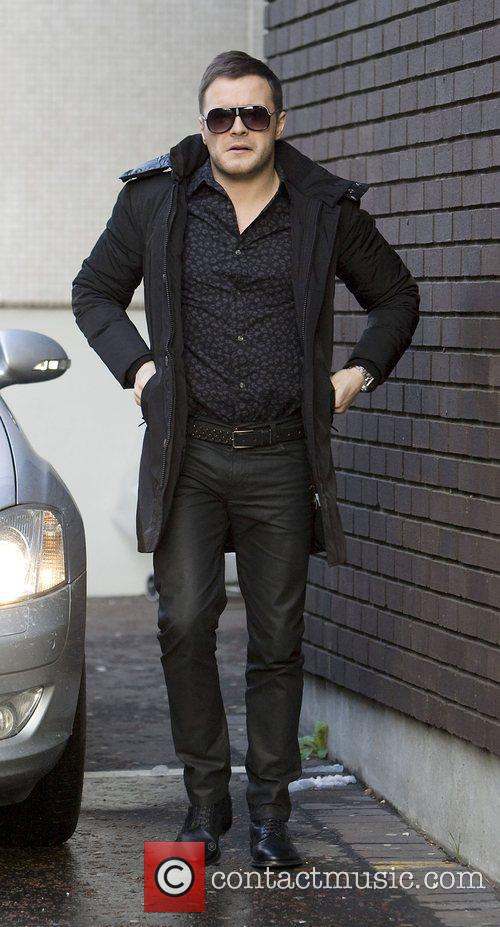 Shane Filan Westlife leaving the GMTV studios London,...