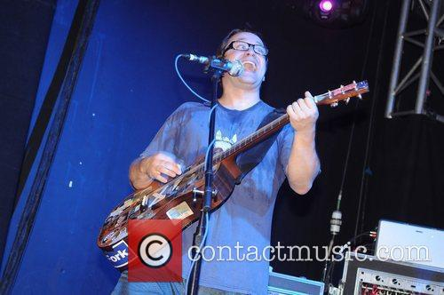 Brendan B Brown of Wheatus performs on stage...