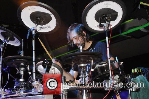 Kevin Garcia of Wheatus performs on stage at...