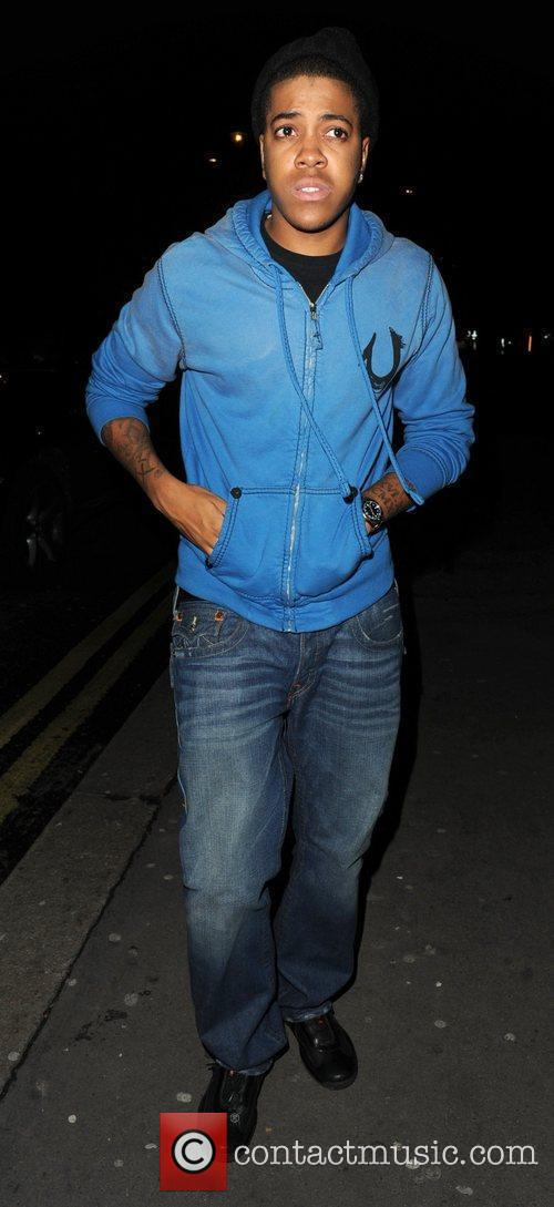 Chipmunk arrives at Whisky Mist club in Mayfair...