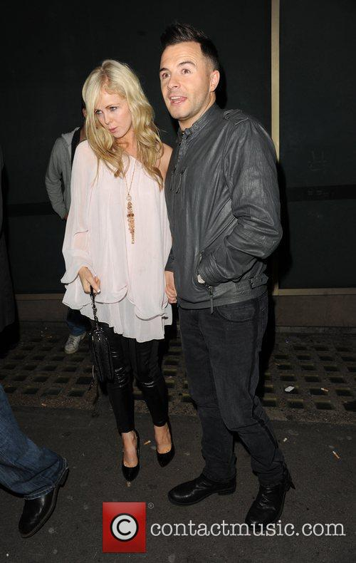 Shane Filan and his wife Gillian outside Whisky...