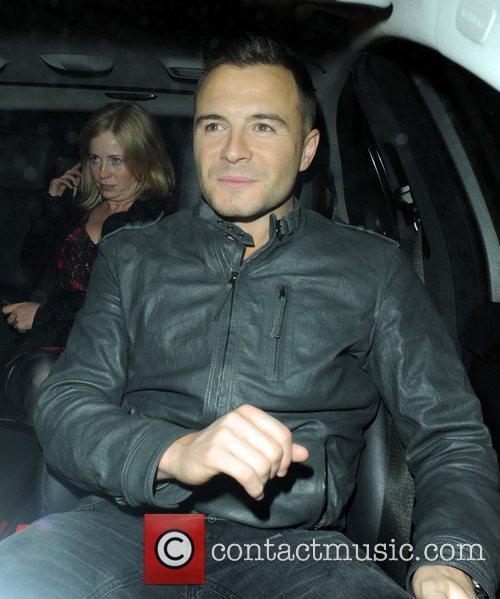 Shane Filan leaves Whisky Mist club in Mayfair...