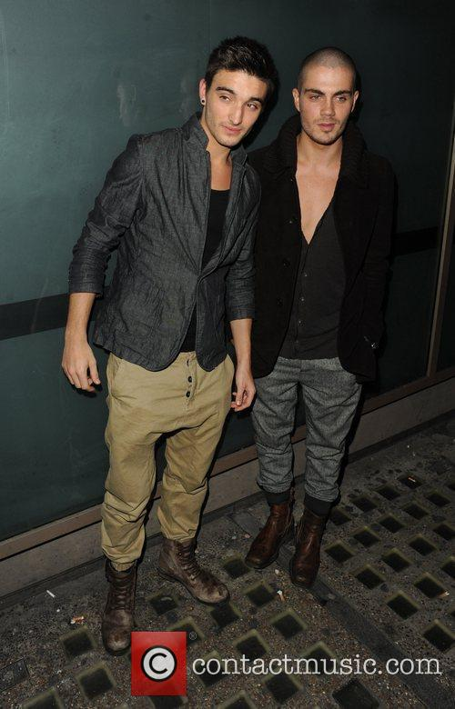 Tom Parker and Max George arrive at Whisky...