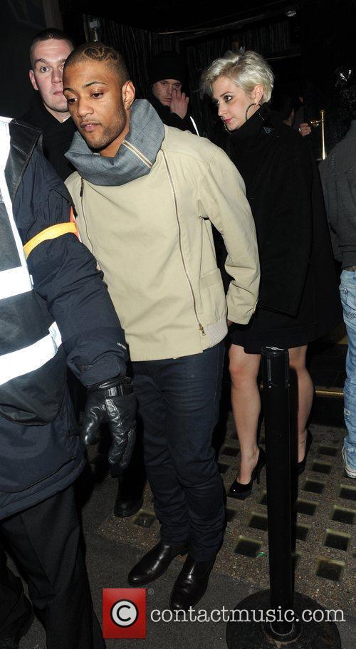Jonathan 'JB' Gill and his girlfriend Chloe Tangney...