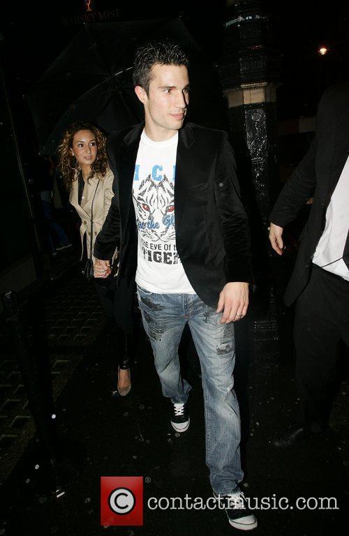 Footballer Robin van Persie of Arsenal and his...
