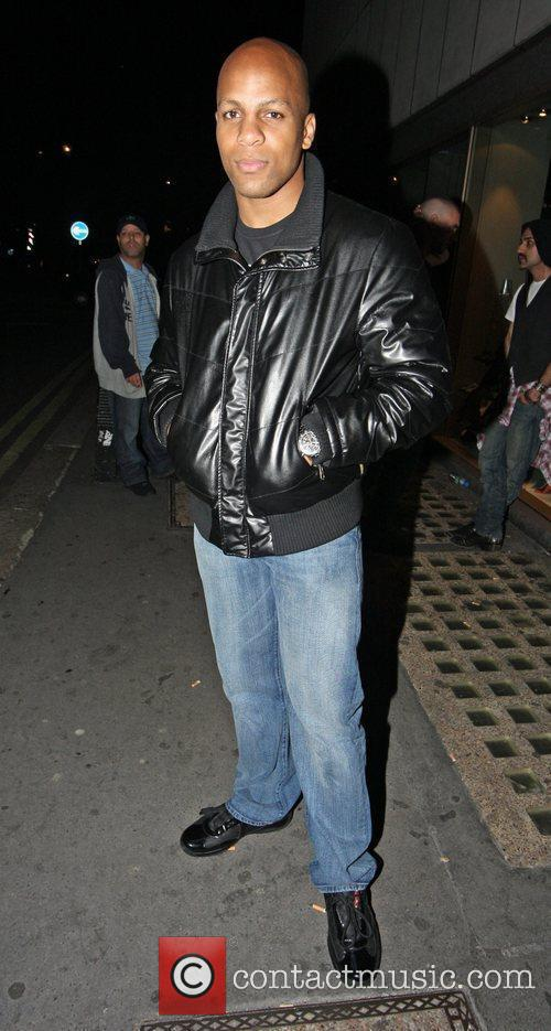 Leon Solid outside Whisky Mist nightclub in Mayfair....