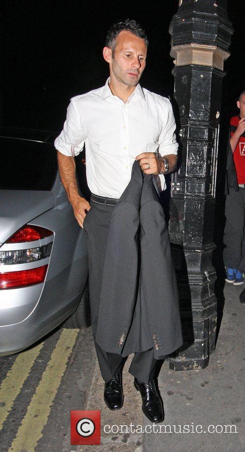 Ryan Giggs outside Whisky Mist nightclub in Mayfair....