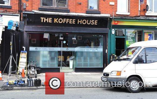 Is seen filming BBC Three's 'White Van Man'...