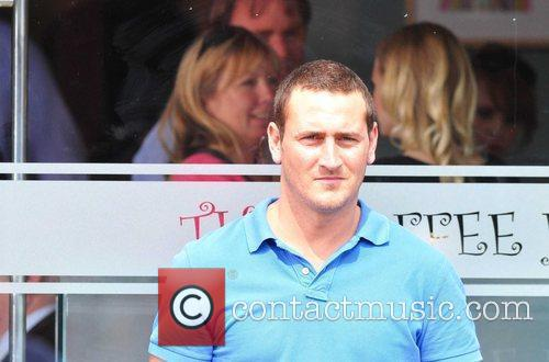 Will Mellor is seen filming BBC Three's 'White...