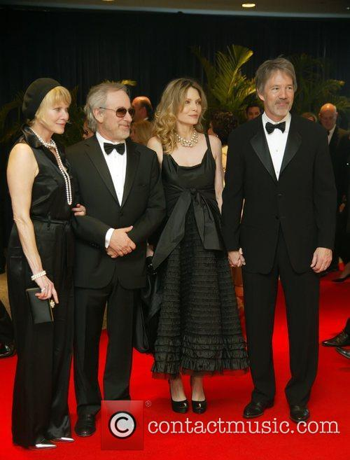 Kate Capshaw, Michelle Pfeiffer, Steven Spielberg and White House