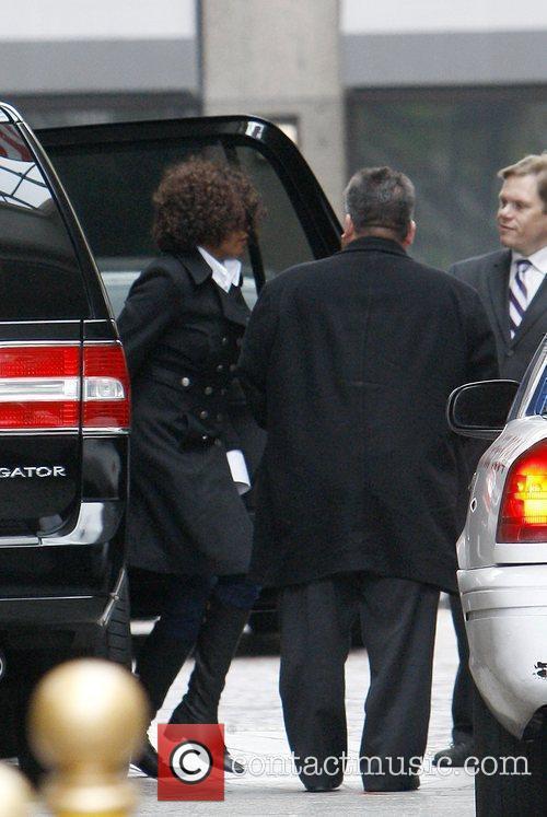 Whitney Houston  leaving a medical center on...