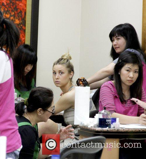 Whitney Port 'The City' star getting a manicure...