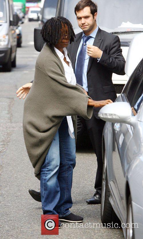 Whoopi Goldberg leaving Mulberry on Bond Street London,...