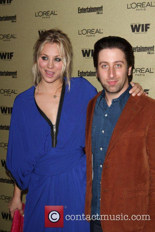 Kaley Cuoco and Simon Helberg The 2010 Entertainment...