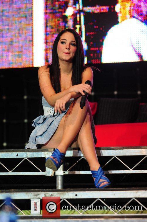 Tulisa Contostavlos of N-Dubz,  performing at Wigan...