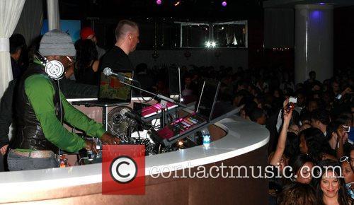 Will.I.Am dj's at Pure night club