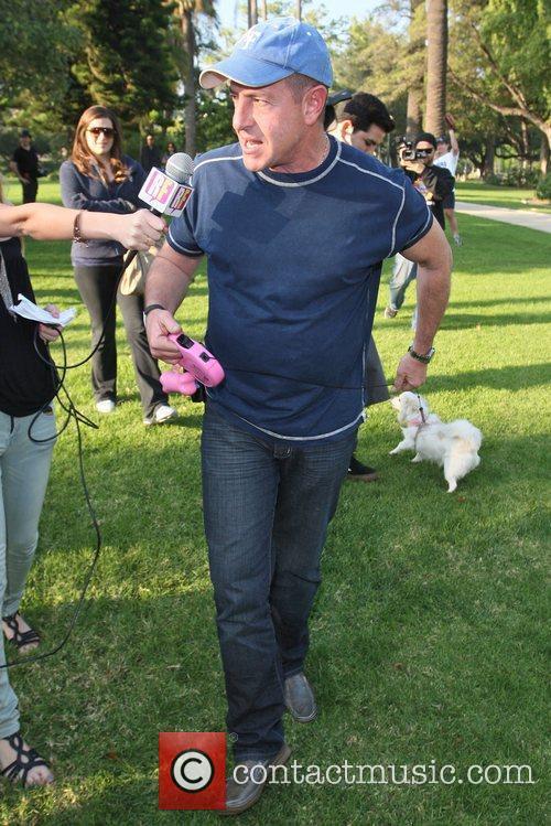 Michael Lohan Celebrities at Will Rogers Memorial Park...