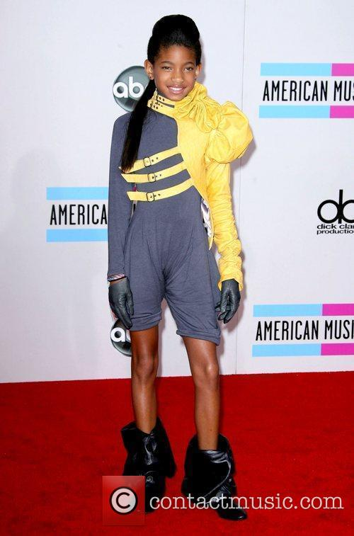 WILLOW SMITH's wild red carpet look at Sunday...